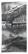 Alaska Railroad Near Whittier Beach Towel