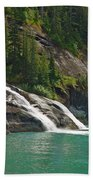 Alaska Tracy Arm Beach Towel