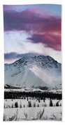 Alaskan Range At Sunset Beach Towel