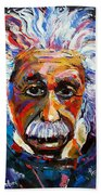 Albert Einstein Genius Beach Towel