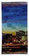 Albuquerque New Mexico Skyline Beach Towel