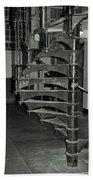 Alcatraz Stairs In Bw Beach Towel