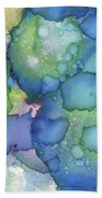 Alcohol Ink #2 Beach Towel