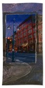 Ale House And Street Lamp Beach Towel