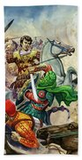 Alexander The Great At The Battle Of Issus  Beach Towel
