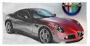 Alfa Romeo 8c Competizione  Beach Towel