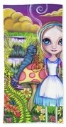 Alice And Absolem Beach Towel