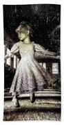 Alice And The Rabbit Beach Towel by Bob Orsillo
