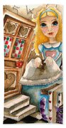 Alice In Wonderland 2 Beach Towel by Lucia Stewart