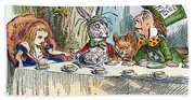 Alices Mad-tea Party, 1865 Beach Towel