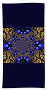 Blue Abstract Beach Towel