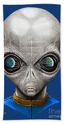 Alien From Space Beach Towel