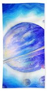 Alien Planet. Blue Light Of Hope Beach Towel