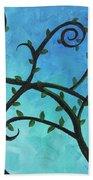 Alien Planet Blue Beach Towel