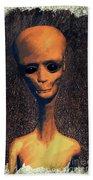 Alien Portrait Beach Towel