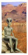 Alien Vacation - Grand Canyon Beach Towel
