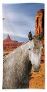 Alien Vacation - Monument Valley Beach Sheet