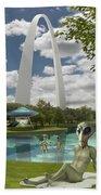 Alien Vacation - St. Louis Beach Towel