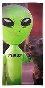 Alien's Best Friend Beach Towel