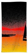 Alki Sail  Beach Towel