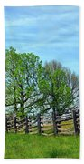All Fenced In Along The Blue Ridge Parkway Beach Towel