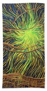 All Is Woven By The Light Beach Towel