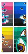 All Pictures With Eyes Beach Towel