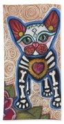 All Souls Day Aztec Beach Towel