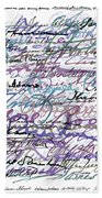 All The Presidents Signatures Blue Rose Beach Towel