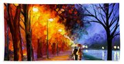 Alley By The Lake Beach Towel