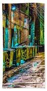 Alley In Uptown Chicago Dsc2687 Beach Towel