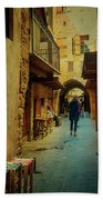 Alley Of Old Sidon Beach Towel