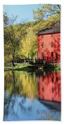 Alley Spring Mill Reflection Beach Towel