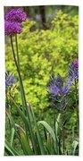 Allium And Camassia Beach Towel