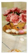 Almond Blossom Tea Beach Towel