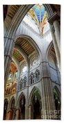 Almudena Cathedral Interior In Madrid Beach Sheet