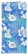 Aloha Lace Kaua'i Blue Beach Towel by Karen Dyson