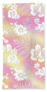 Aloha Lace Passion Guava Sorbet Beach Towel by Karen Dyson