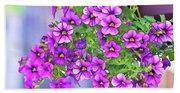 Aloha Purple Sky Calibrachoa Abstract I Beach Towel