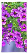 Aloha Purple Sky Calibrachoa Abstract I Beach Towel