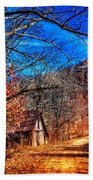 Along The Country Lane Beach Towel