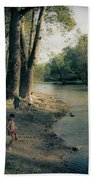 Along The Mississinewa River Beach Towel