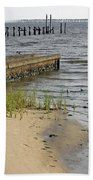 Along The Shore Of Biloxi Bay Beach Towel