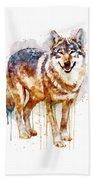 Alpha Wolf Beach Towel