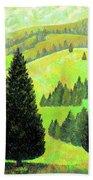 Alpine Hills Beach Towel