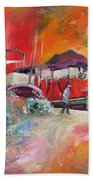 Altea Harbour Spain Beach Towel