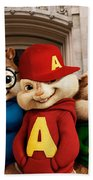 Alvin And The Chipmunks Beach Towel