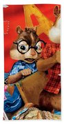Alvin And The Chipmunks Chipwrecked Beach Towel