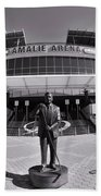 Amalie Arena Black And White Beach Towel