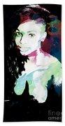 Amani African American Nude Fine Art Painting Print 4966.03 Beach Towel